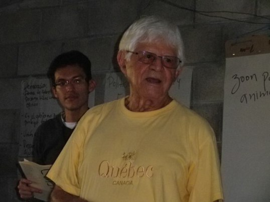 """""""Chencho"""" gave the lecture at La Anemona. He is a former Roman Catholic priest and friend of Anglican Bishop Barahona."""